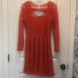 Modcloth Sheer Lace Long Sleeve Dress